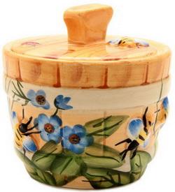 Горшочек для мёда - Пчелка на лугу 400 мл